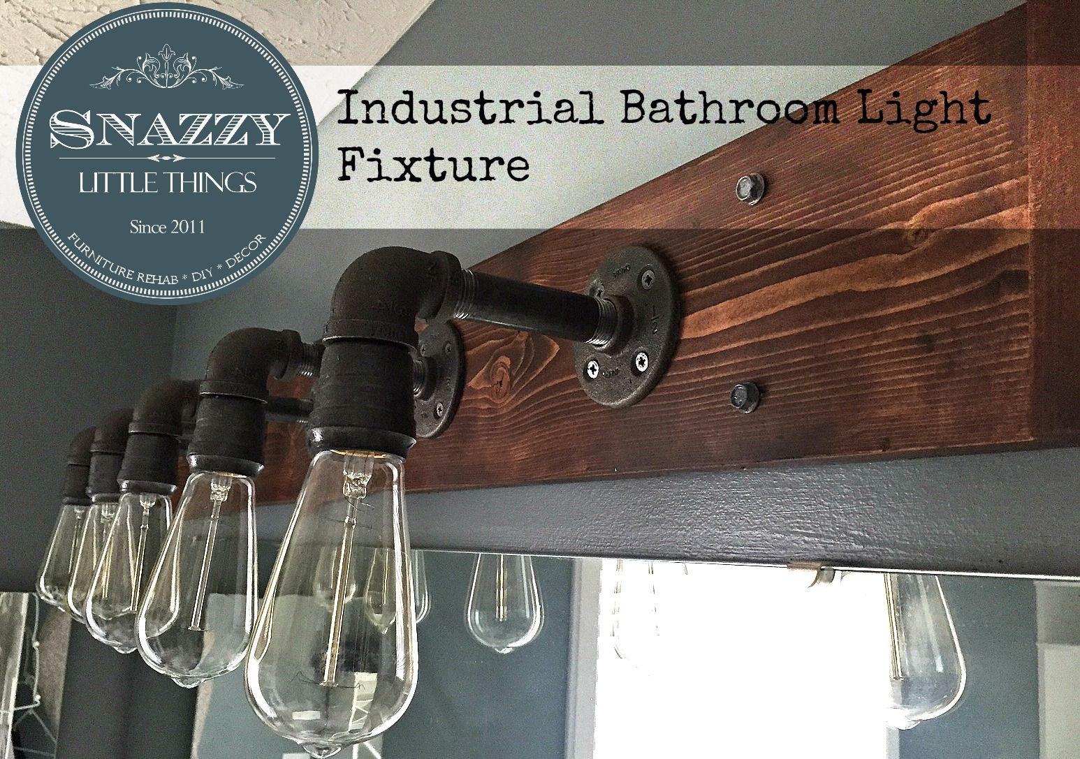 Diy Industrial Light For Vanity Industrial Light Fixtures