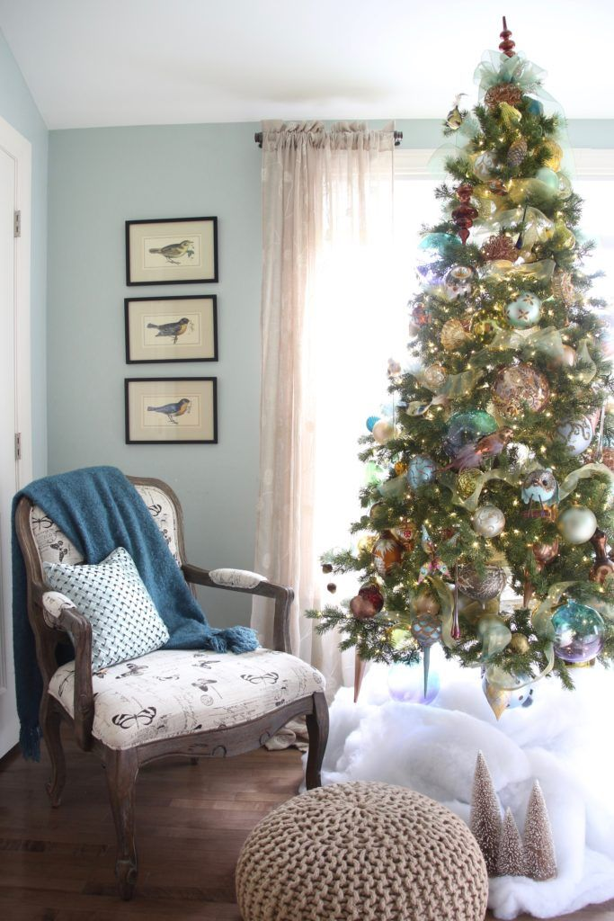 Christmas Bedroom Gorgeous Turquoise Makeover Meme Hill