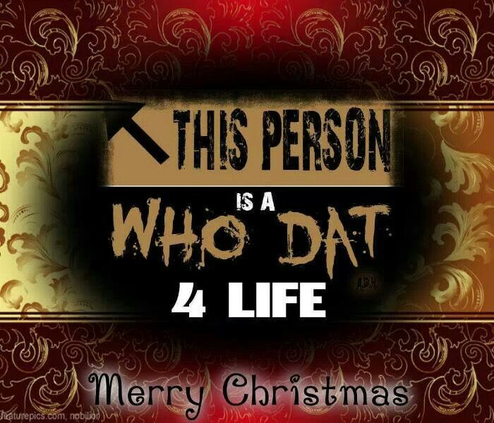 Merry Christmas New Orleans Saints