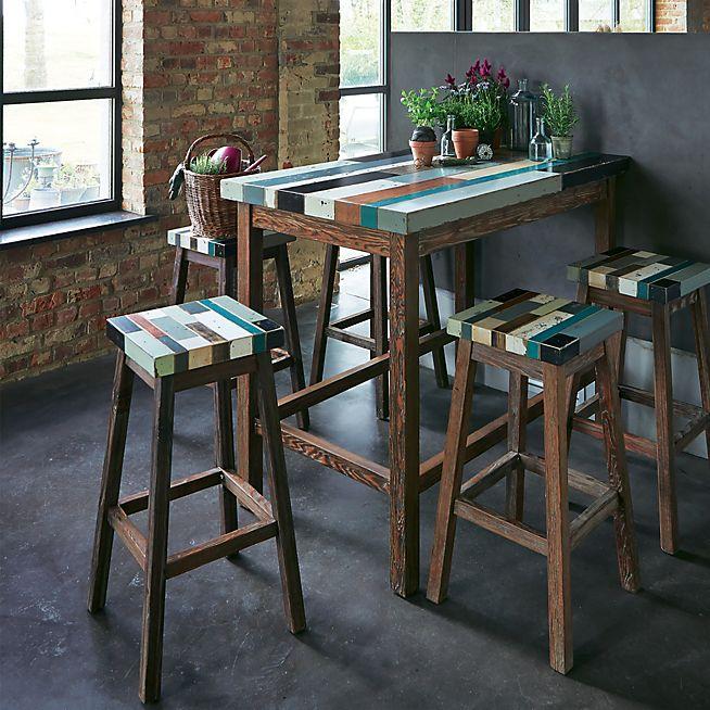 table haute bar rectangulaire