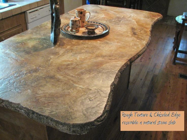 Resembles A Stone Slab But In Concrete Limestone Countertops