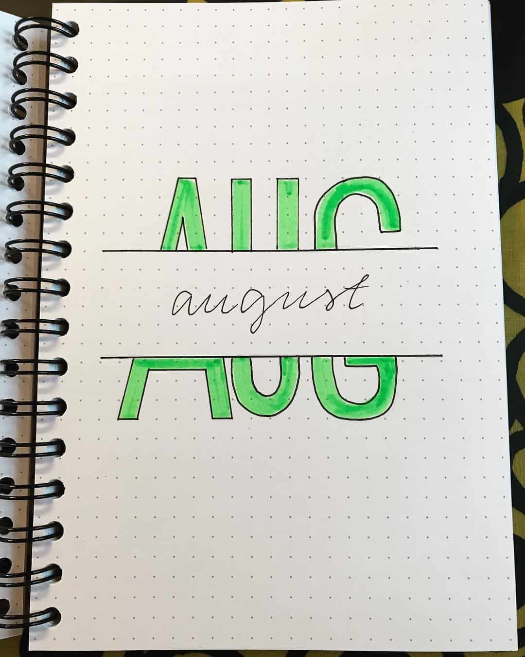 12 Bullet Journal August Cover Ideas That Are Gorgeous #augustbulletjournal