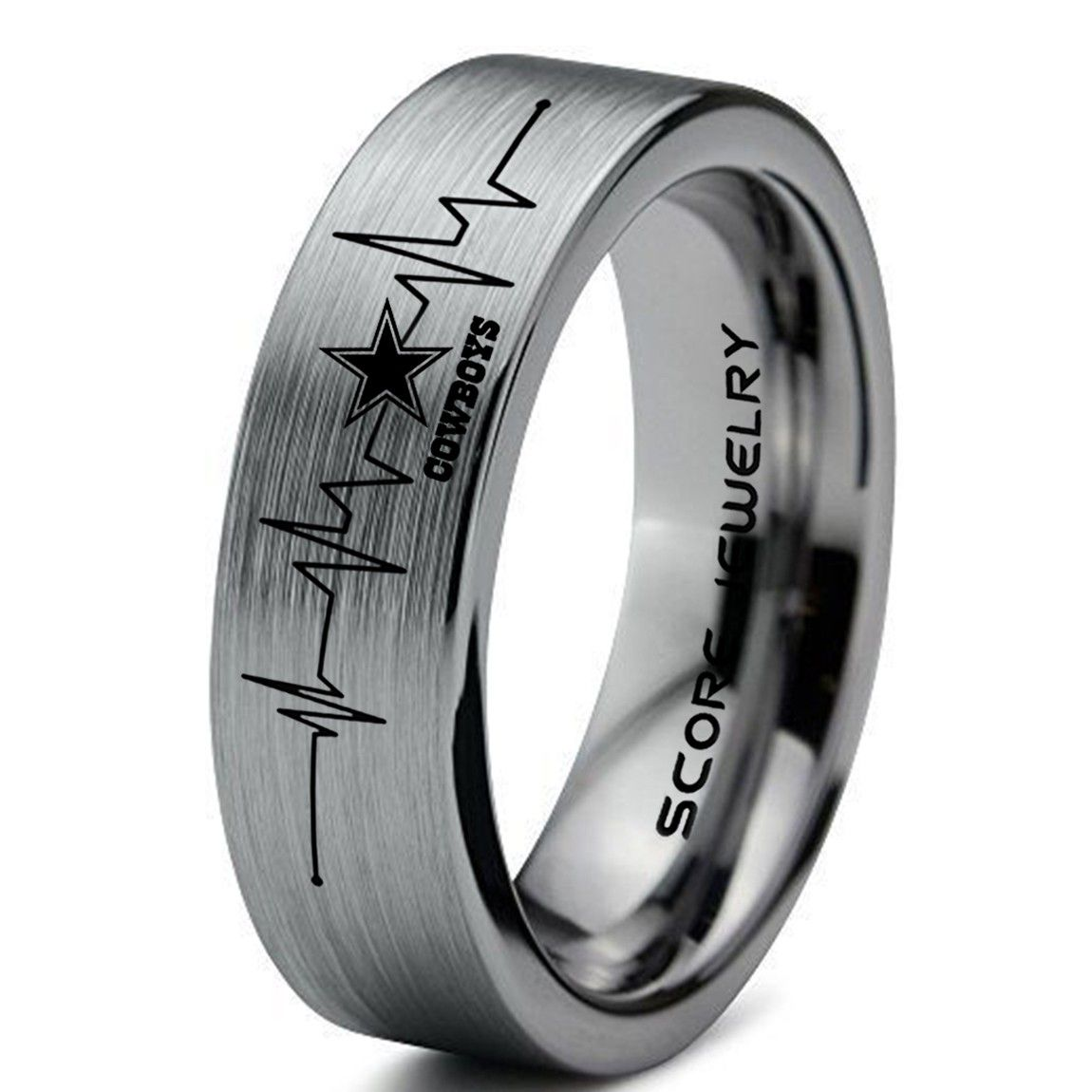 Dallas Cowboys Ring Dallas Cowboys Band Dallas Cowboys Jewelry Dallas Cowboy Beautiful Engagement Rings Tungsten Carbide Wedding Bands Wedding Rings Engagement