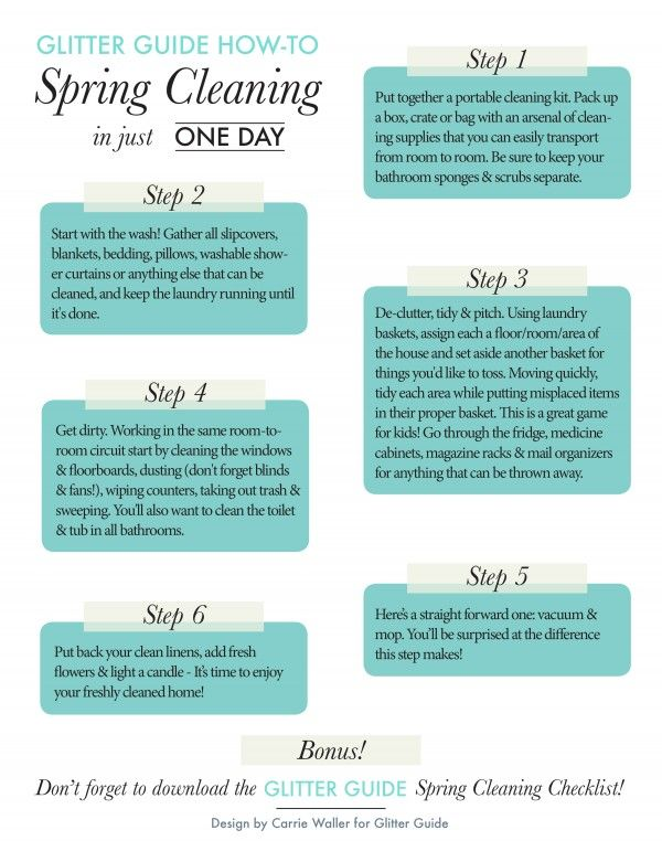 How To: Spring Cleaning In One Day | Cleaning, Spring And Organizing