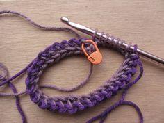 Tunisch Haken In Het Rond Met Meer Kleuren Crochet