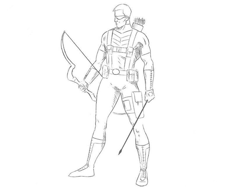 Hawkeye Coloring Pages Activity See The Category To Find