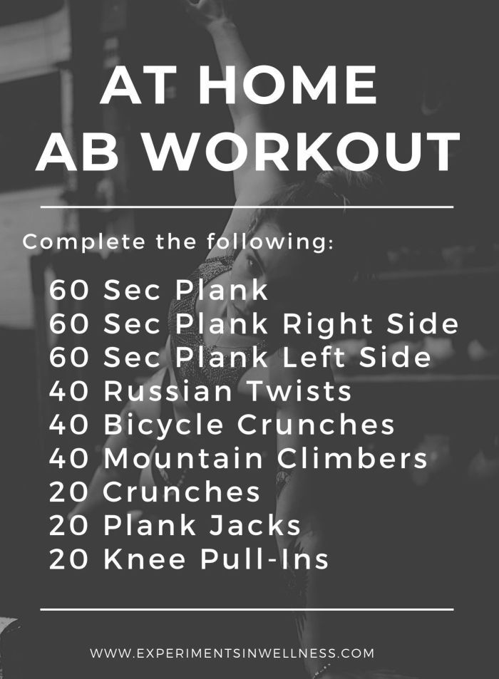 At Home Ab Workout | Body, Mind, Goal | Experiments In Wellness
