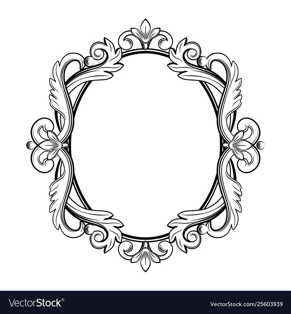 Ornamental Vintage Frame In Royalty Free Vector Image Ad Frame Vintage Ornamental Royalty Ad Vector Free Diamond Vector Royalty Frame
