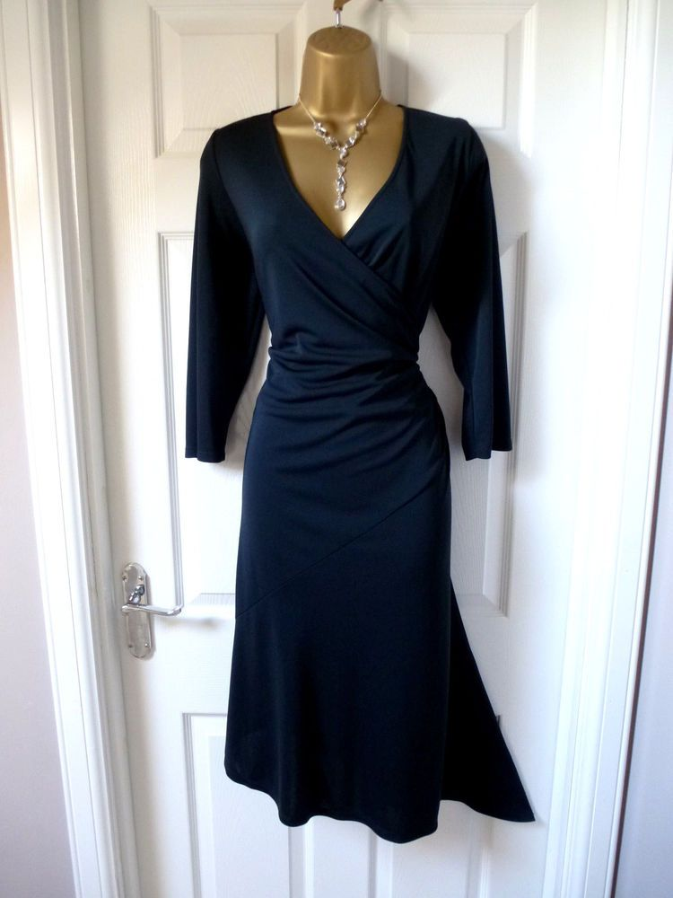 Ladies Stunning Black Dress Size 14 From Wallis Christmas Party Evening Fashion Clothing Shoes Accessories Wome White Dress Summer Dresses Size 14 Dresses