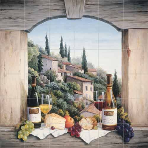 Still Life In The Italian Hills Kitchen Tile Backsplashes Murals Accent Tiles
