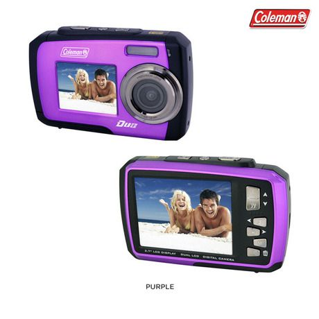 Coleman Duo 14MP Waterproof Digital Camera with Dual View LCD