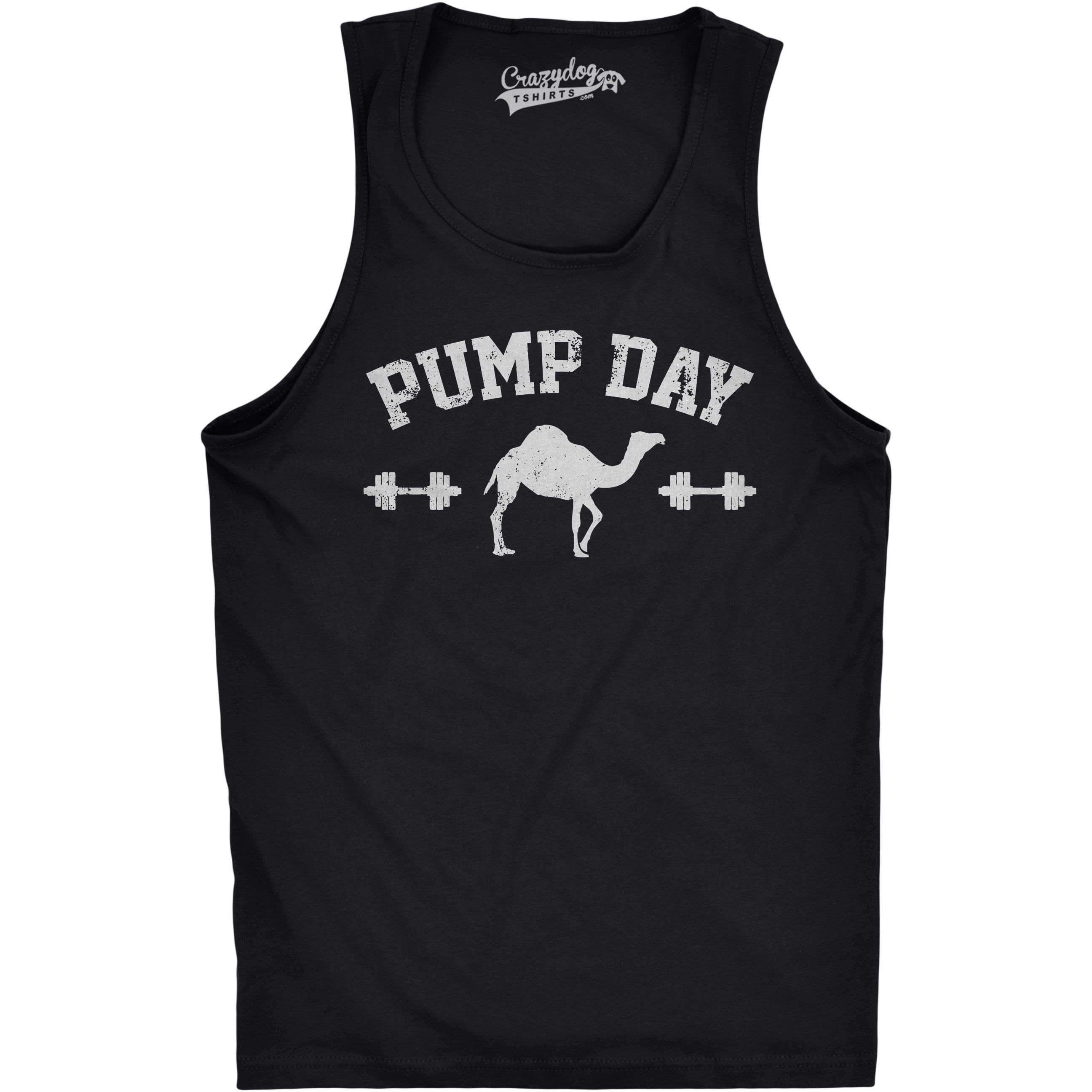 09a9fc29f Crazy Dog T-shirts Mens Pump Day Funny Camel Hump Day Workout Sleeveless  Fitness Tank Top