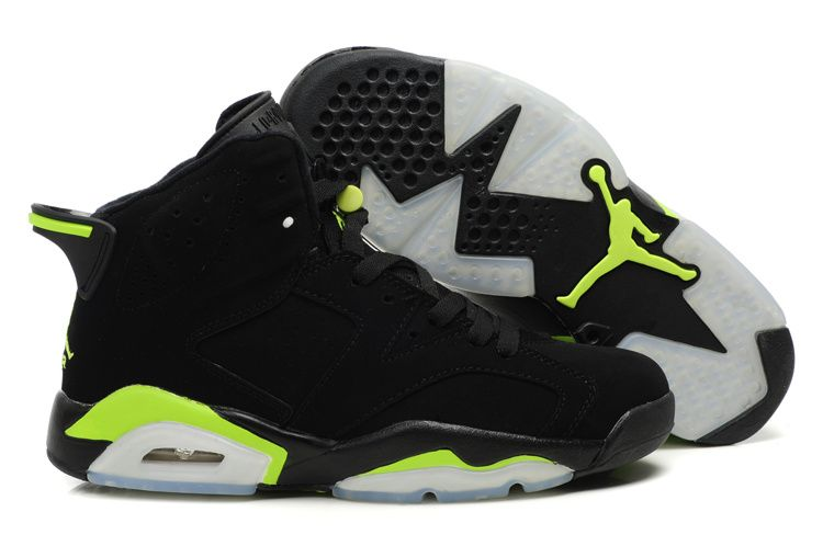 Cheap Real Air Jordan Retro VI White Black Green