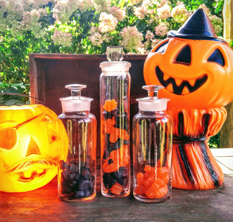 Halloween Party / Vintage Halloween Candy Jars / Vintage
