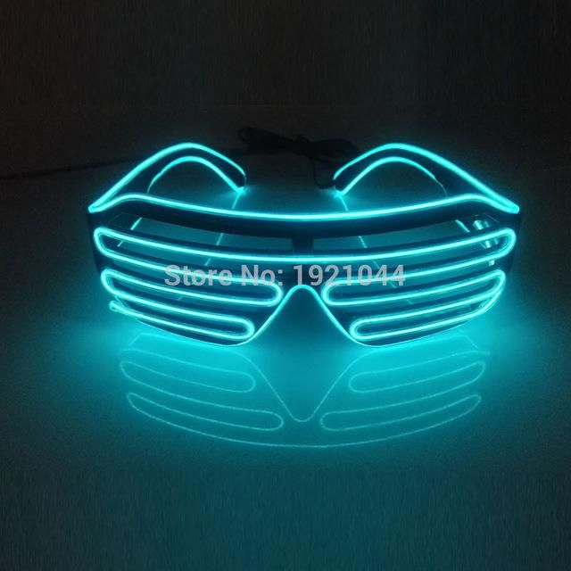 Buy Double Colors Sound Activated EL wire Led Glasses Lighting