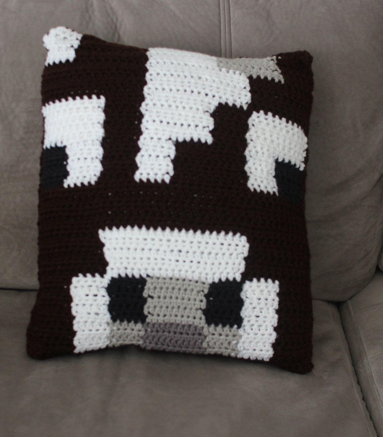 Crochet Minecraft Cow Pillow by MegaLOTT on Etsy | Mega LOTT ...