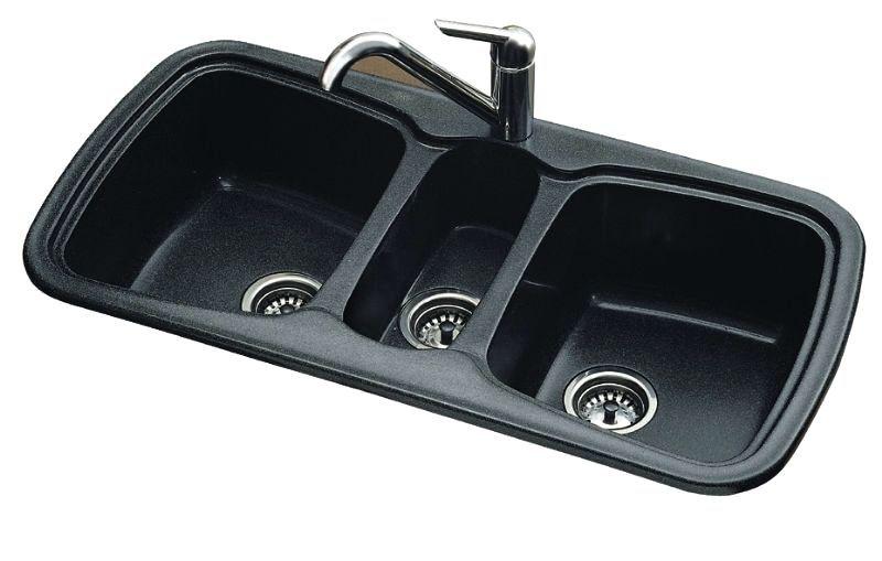 Triple Bowl Kitchen Sink Composite Onice Sanizeo 3 Bowl Kitchen Sink Undermount Bowl 3 Bowl Kitchen Sink Undermount Kitchen Sink Bowl Sink Sink