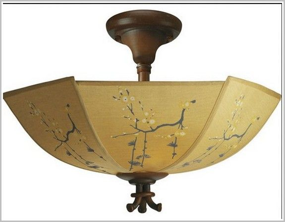 Asian ceiling light fixture with tassels