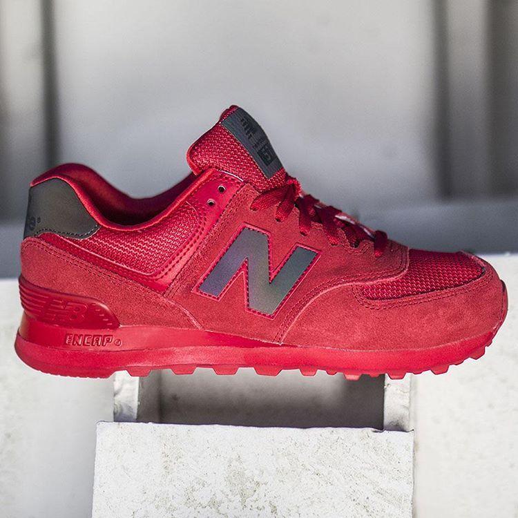 new balance 574 urban twilight red