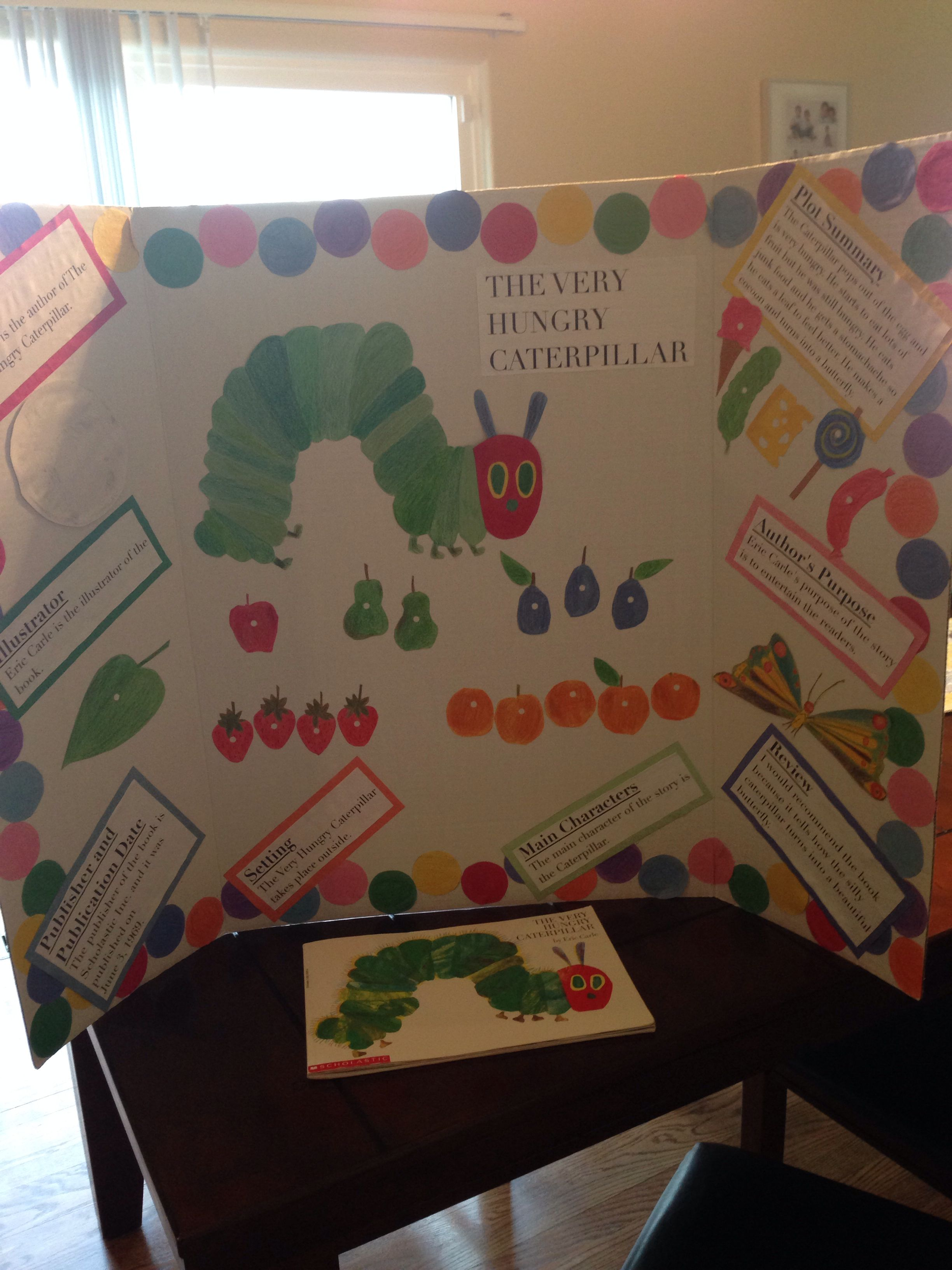 The Very Hungry Caterpillar Reading Fair Board