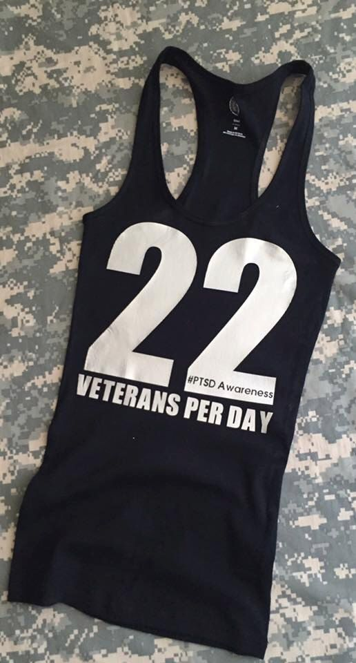22 Veteran's a day Women's Tank PTSD by SupportVeterans on Etsy https://www.etsy.com/listing/458544948/22-veterans-a-day-womens-tank-ptsd