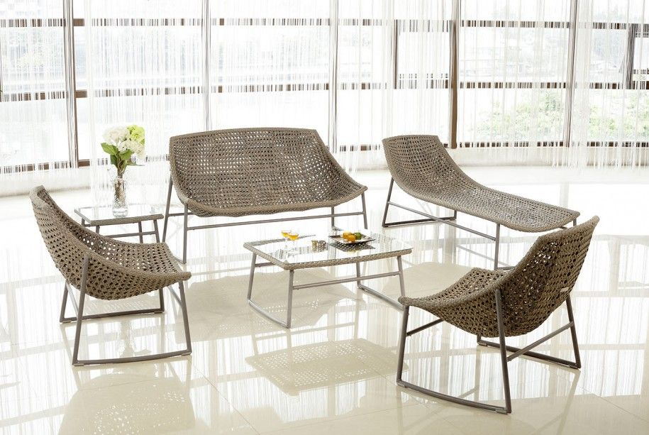 Garden Furniture Houston charming curved modern wicker patio furniture with glass coffee
