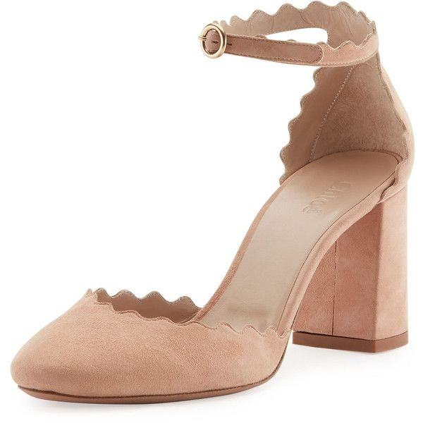 02b2c2189093 Chloe Lauren Scalloped d Orsay Pump ( 735) ❤ liked on Polyvore featuring  shoes