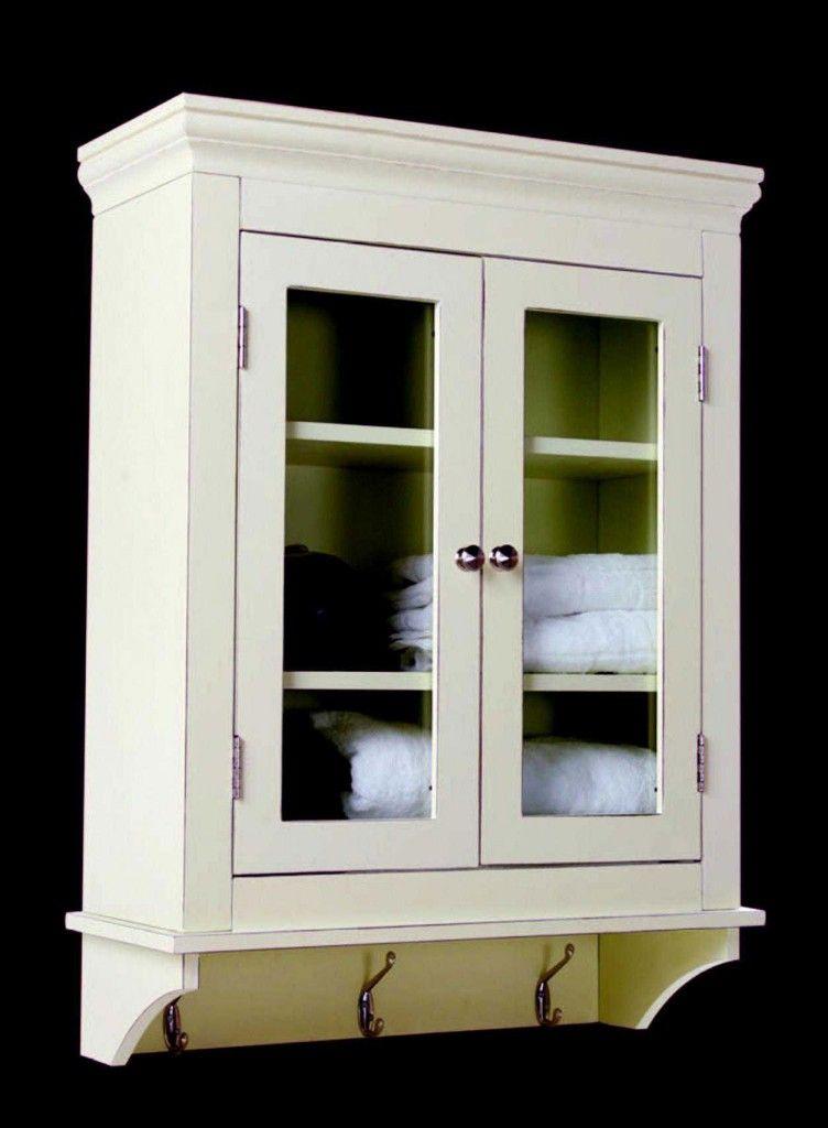 Antique White Bathroom Wall Cabinet In 2020 Small Bathroom Wall Cabinet Bathroom Wall Cabinets White Bathroom Wall Storage
