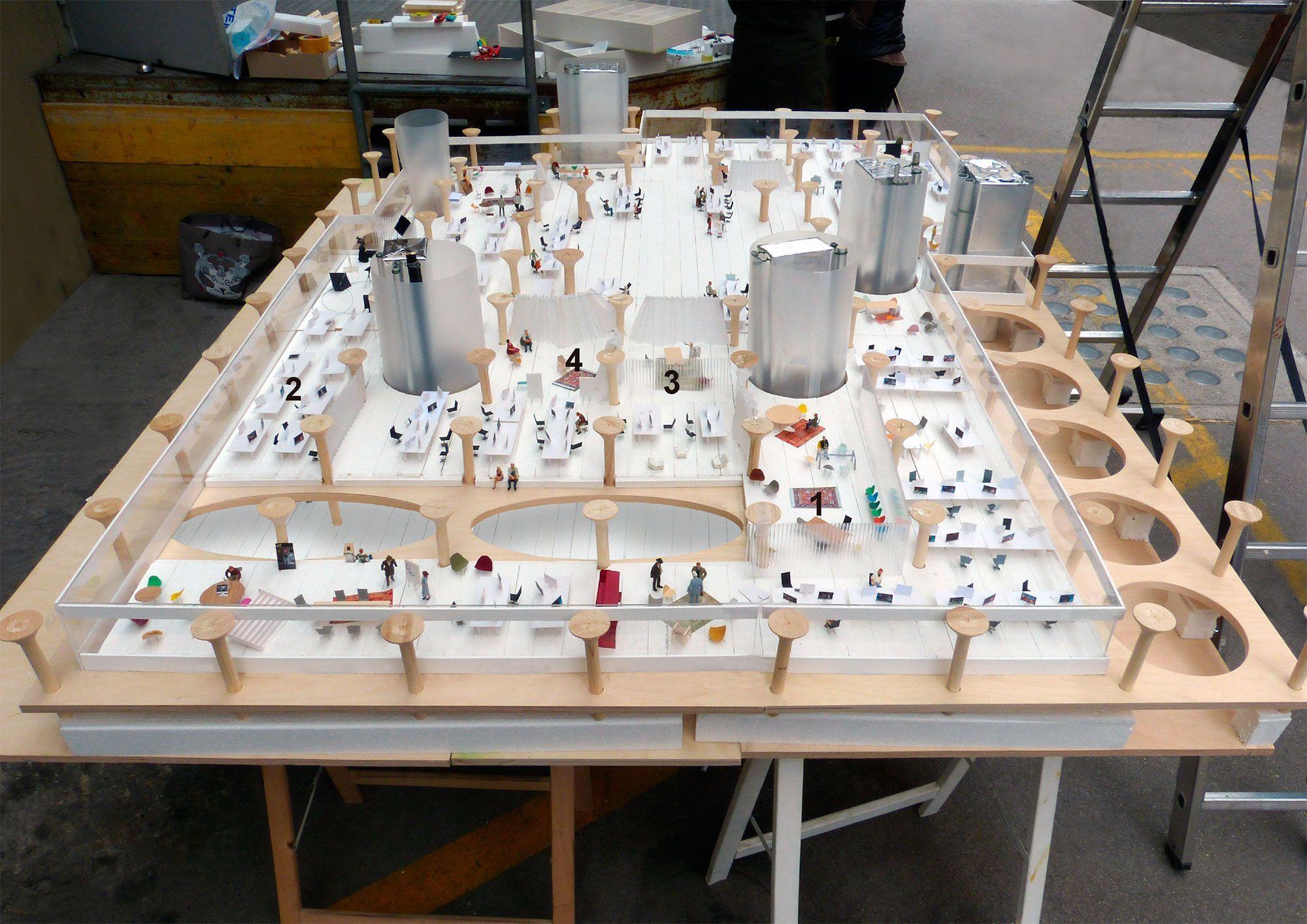 Christian Kerez VRT media building Brussels 2 models Pinterest