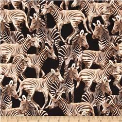 Timeless Treasures Zebras Black