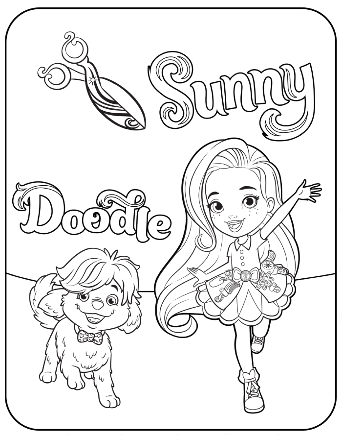 Free Printable Sunny Day Coloring Pages Puppy Coloring Pages Cartoon Coloring Pages Coloring Pages