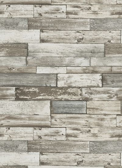 Wood Wallpaper In Grey And Brown Design By Bd Wall For