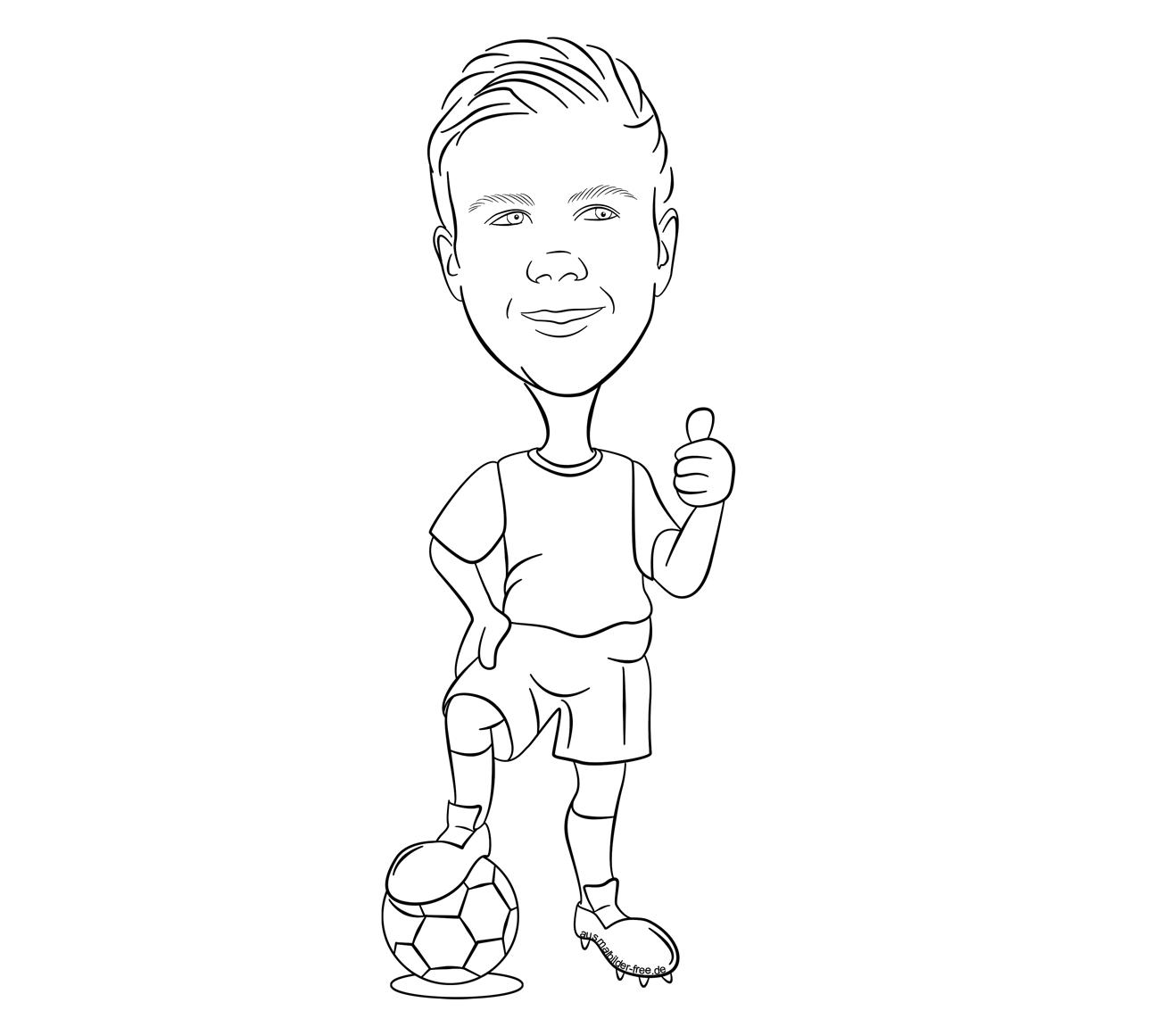 Ausmalbilder Fußball Zeichen : Ausmalbilder Fu Ballspieler G Tze 1160 Malvorlage Fu Ball
