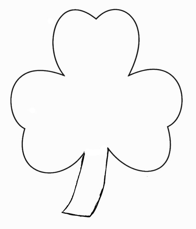St. Patricks Day Crafts - Print Your Finger Paint Shamrock Craft