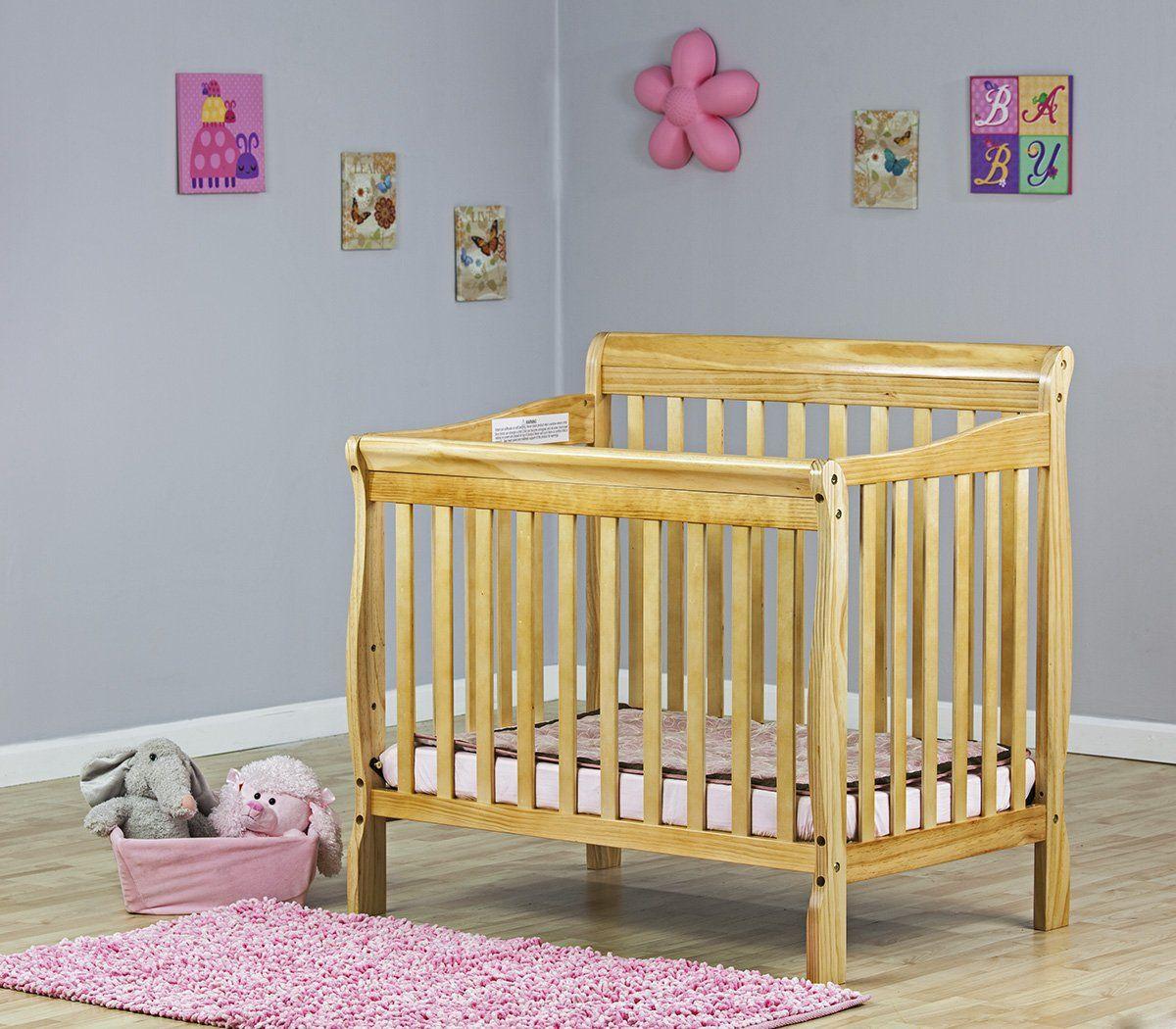 Amazon Com Dream On Me 4 In 1 Aden Convertible Mini Crib Black Baby Crib Baby Cribs For Small Spaces Cribs Best Crib
