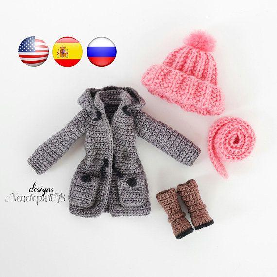 Modèle Vêtements de poupée Vanessa, Tutoriel PDF EN FRANÇAIS, modèle doll #spanishdolls