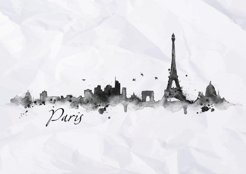 Paris Aquarell Urlaubsgrusse Echte Postkarten Online
