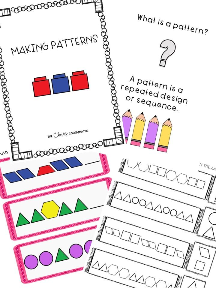 Patterns Unit and Worksheet Bundle for students w special needs ...