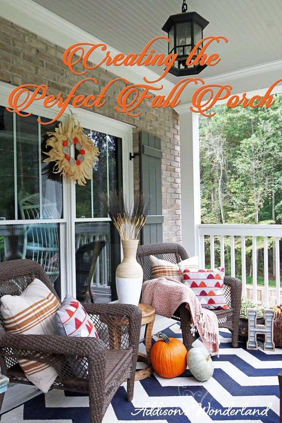 Fall Front Porch Makeover Front