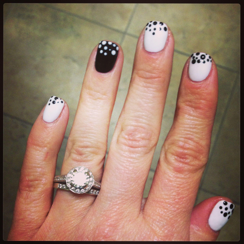 Dot nail art dots dots dots gelcolor by opi black onyx