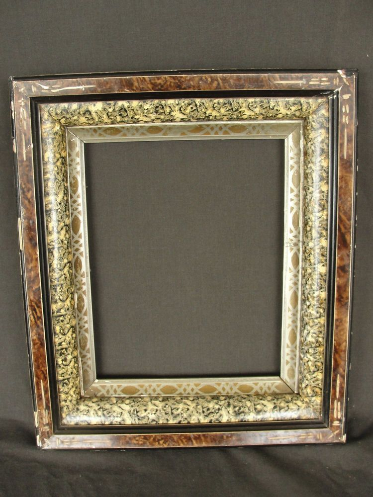 Antique Aesthetic Period Eastlake Picture Frame Incised Faux Marble ...