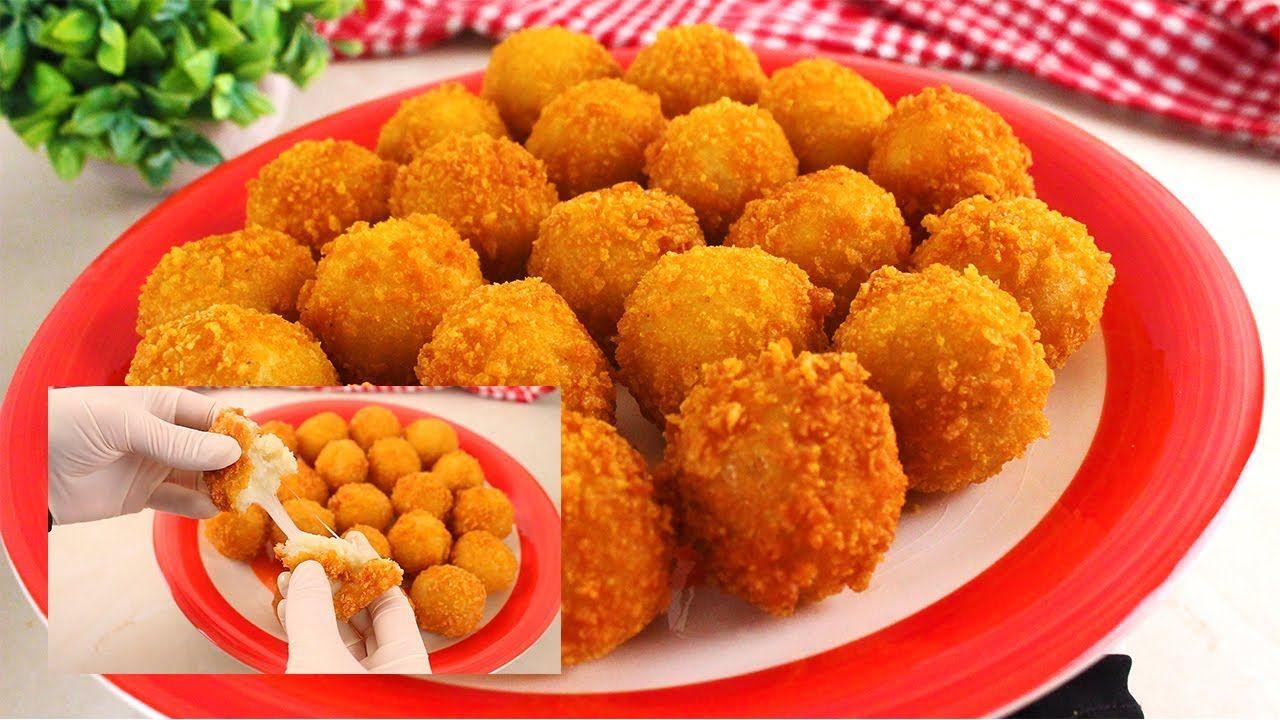 كرات البطاطس المقرمشة محشية بالجبنة من ألذ الوصفات اللي ممكن تعملوها في رمضان لعائلتكم Youtube Food Finger Foods Arabic Food