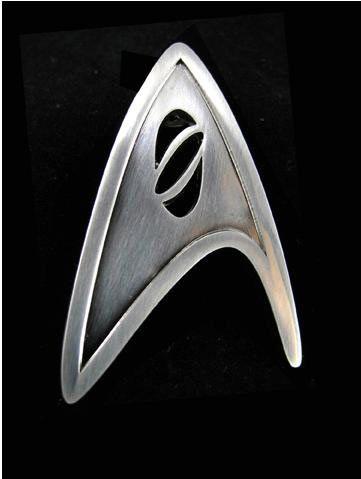 Distintivo Star Trek. Científico de la Flota Estelar