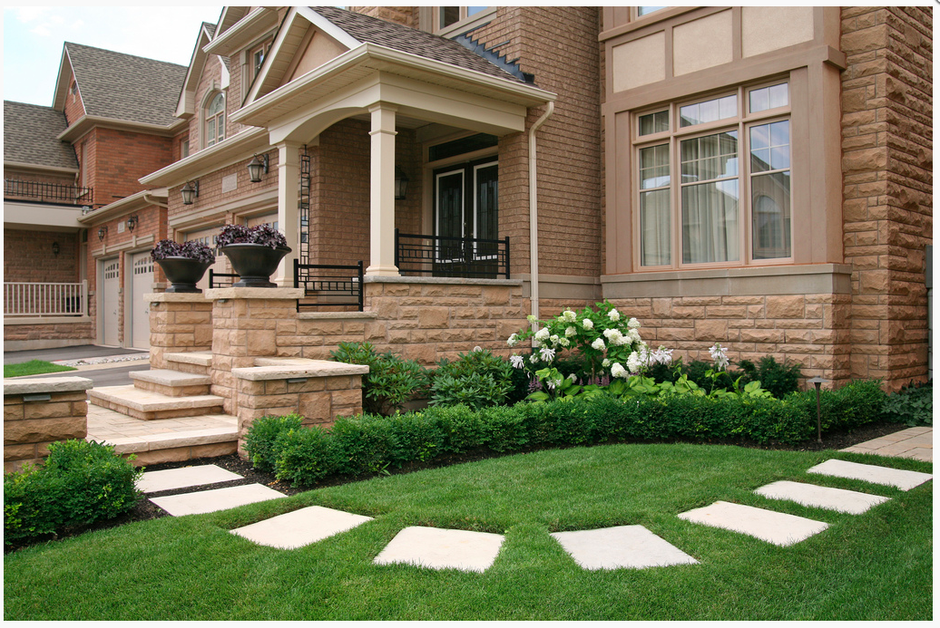 stepping stone ideas (With images) | Front yard ... on Front Side Yard Ideas id=69447
