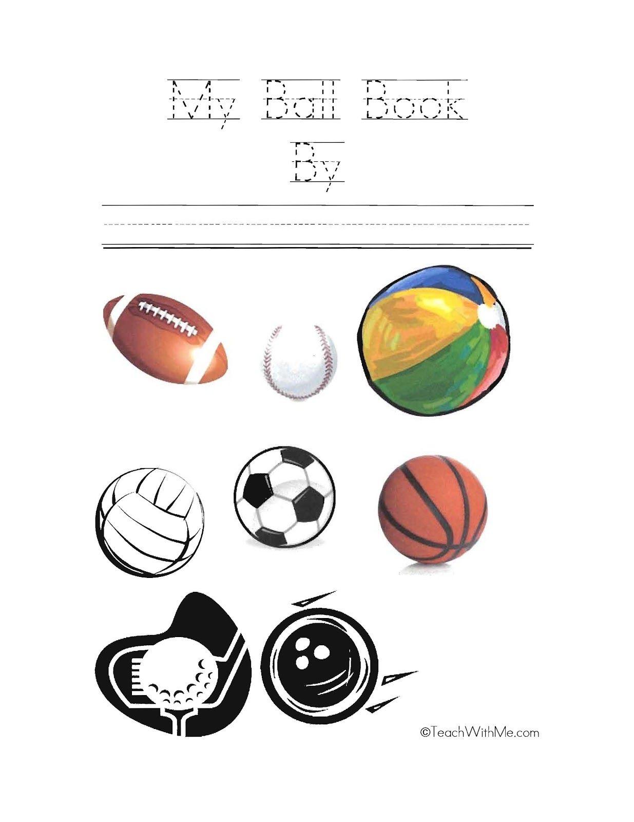Worksheet For Preschoolers Sports Ball. Worksheet. Best ...