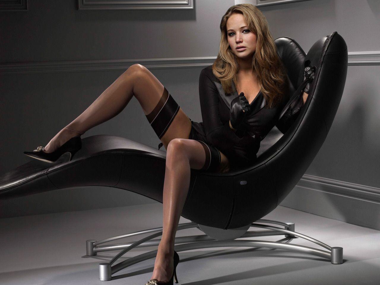 Jennifer Lawrence Stockings