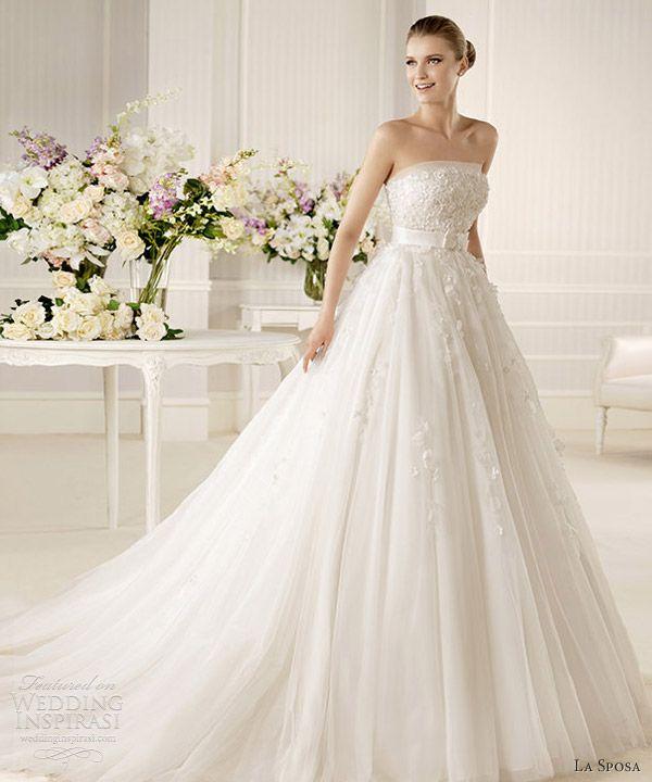 Amazing la sposa bridal mistella strapless wedding dress