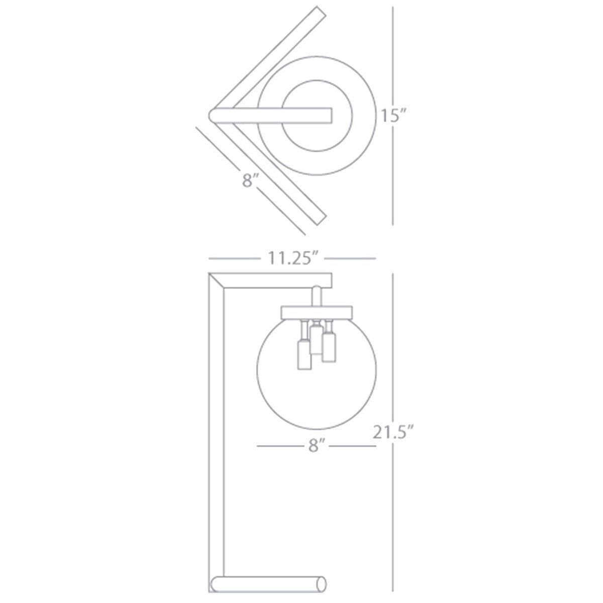 Robert Abbey Zoltar Clear Glass Shade Table Lamp
