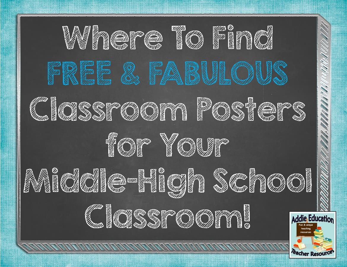 Where to find FREE Classroom Posters for Middle / High School ...