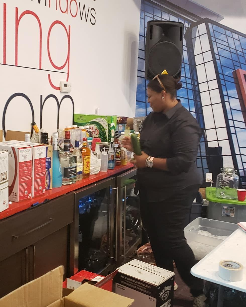 Bar set up at yesterdays connections and closers event